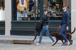Anne Hathaway - out in NYC 5/4/13