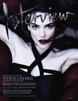 Winona Ryder  - Interview magazine May 2013