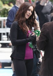 Megan Fox - On the set of TMNT in NYC 5/7/13
