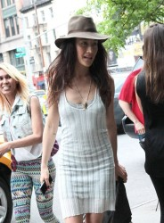 Maggie Q - at her hotel in NYC 5/10/13