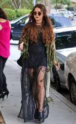 Vanessa Hudgens - Stopping by a hair salon in West Hollywood 5/16/13