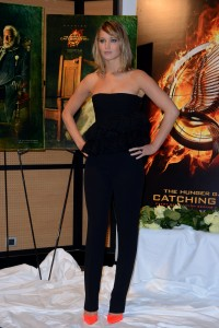Jennifer Lawrence The Hunger Games Catching Fire Photocall 17