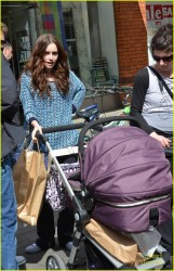 Lily Collins - on the set of 'Love, Rosie' in Dublin 5/28/13