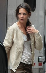 Katie Holmes - on the set of 'Mania Days' in NYC 5/30/13