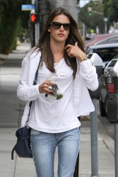 Alessandra Ambrosio - out in Brentwood 6/5/13