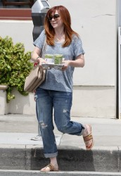 Alyson Hannigan - out in Santa Monica 6/11/13