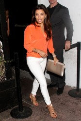 Eva Longoria - leaving Beso restaurant in Hollywood 6/28/13