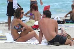 Audrina Patridge - on the beach in Miami 6/29/13