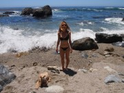 Olesya Rulin Looking Hot in a Bikini in Big Sur, California