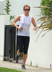 Rachael Taylor - out for a jog in Hollywood 7/11/13