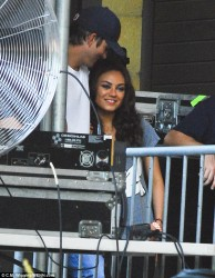 Mila Kunis - at Robin Thicke's concert in Chicago 7/11/13
