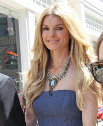Marisa Miller - on the set of Extra in LA 7/17/13