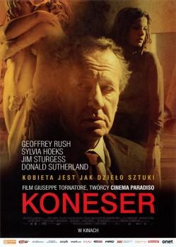 Przód ulotki filmu 'Koneser'