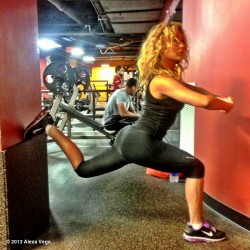 Alexa Vega Exercising at a Gym - July 20, 2013