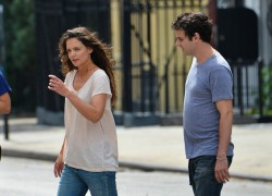 Katie Holmes - on the set of 'Mania Days' in NYC 7/24/13