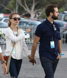 Natalie Portman - at the Jay-Z & Justin Timberlake concert in Pasadena 7/28/13