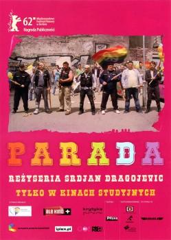 Przód ulotki filmu 'Parada'