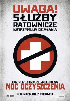 Polski plakat filmu 'Noc Oczyszczenia'