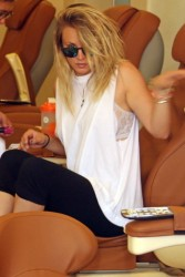 Kaley Cuoco - at a nail salon in LA 8/6/13