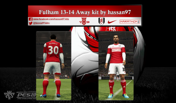 pes 2013 Fulham 13-14 Away kit by hassan97
