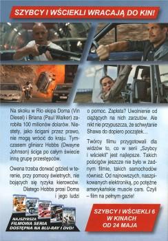 Tył ulotki filmu 'Szybcy i Wściekli 6'