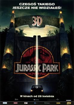 Przód ulotki filmu 'Jurassic Park 3D'