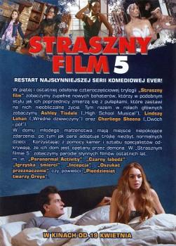 Tył ulotki filmu 'Straszny Film 5'