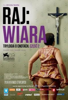 Przód ulotki filmu 'Raj: Wiara'