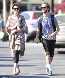 Anne Hathaway - out in LA 8/12/13