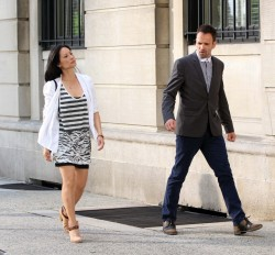 Lucy Liu - on the set of 'Elementary' in NYC 8/15/13