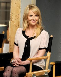 Melissa Rauch - dialogue on the set of 'The Big Bang Theory' in Burbank 8/15/13
