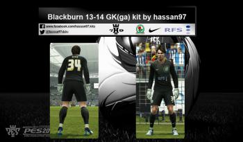 pes 2013 Blackburn 13-14 GK (ga) kit by hassan97