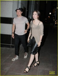 Lily Collins - out in Toronto 8/16/13