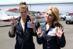 Cassie Scerbo - goes skydiving for the Somaly Mam Foundation in Santa Monica 8/17/13