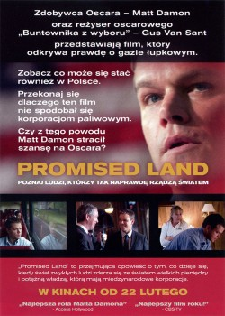 Tył ulotki filmu 'Promised Land'