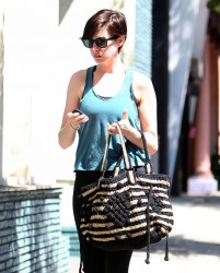 Anne Hathaway - out in LA 8/22/13