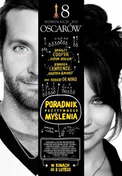 Polski plakat filmu 'Poradnik Pozytywnego Myślenia'