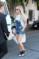 Ashley Tisdale - at Nine Zero One salon in West Hollywood 8/23/13
