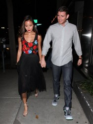 Jamie Chung - at Craig's restaurant in West Hollywood 8/26/13