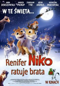 Polski plakat filmu 'Renifer Niko Ratuje Brata'
