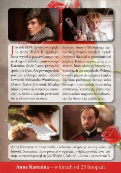 Tył ulotki filmu 'Anna Karenina'