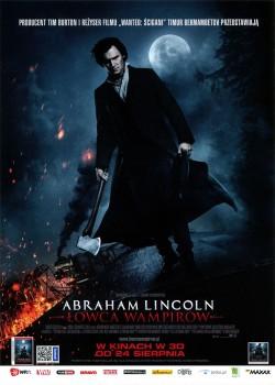Przód ulotki filmu 'Abraham Lincoln: Łowca Wampirów'