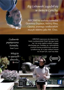 Tył ulotki filmu 'Wrong'