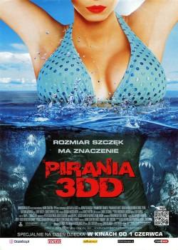 Przód ulotki filmu 'Pirania 3DD'