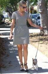 Dianna Agron - Walking her dog in LA 9/5/13