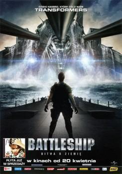 Przód ulotki filmu 'Battleship: Bitwa O Ziemię'