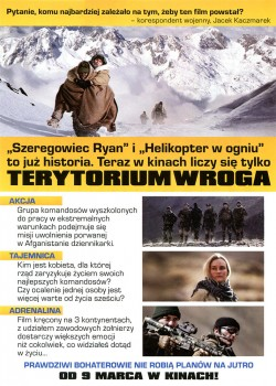 Tył ulotki filmu 'Terytorium Wroga'
