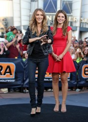 Maria Menounos & Celine Dion - on the set of Extra in LA 9/10/13