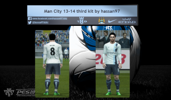download Man City 13-14 Third kit by hassan97 for pes 2013