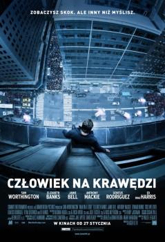 Polski plakat filmu 'Człowiek Na Krawędzi'